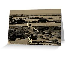 The Boy on the Beach Greeting Card