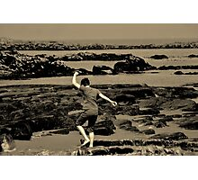 The Boy on the Beach Photographic Print