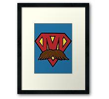 superheroes for men's health Framed Print