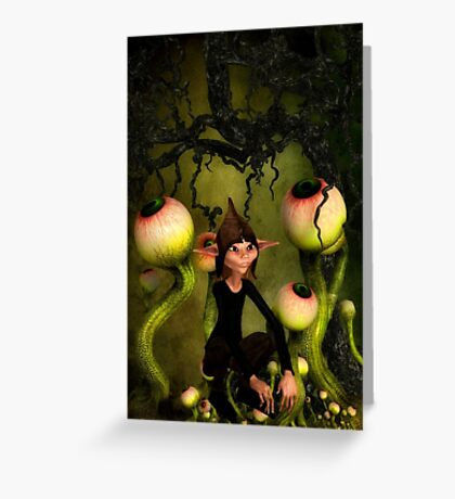 Eyeball Garden Greeting Card