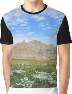 Badlands Mountain Field Graphic T-Shirt