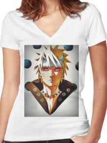 Naruto Women's Fitted V-Neck T-Shirt