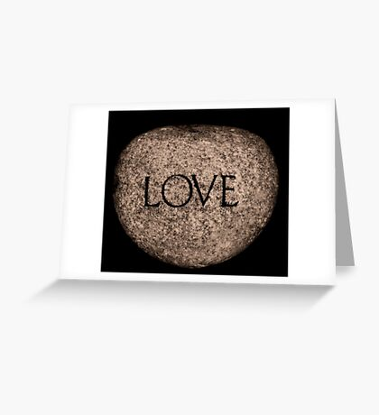 """""""Love"""" Carved Stone Greeting Card"""