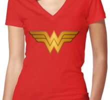 Wonderwoman Women's Fitted V-Neck T-Shirt