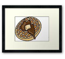 waffle Framed Print
