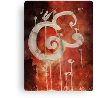 Ampersand in Red : v.01 Canvas Print