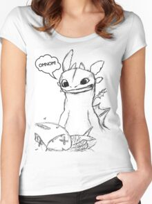 How To Train Your Dragon - Toothless Sketch Style Shirt Women's Fitted Scoop T-Shirt