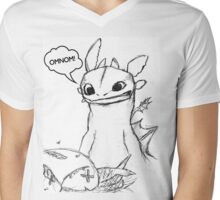 How To Train Your Dragon - Toothless Sketch Style Shirt Mens V-Neck T-Shirt