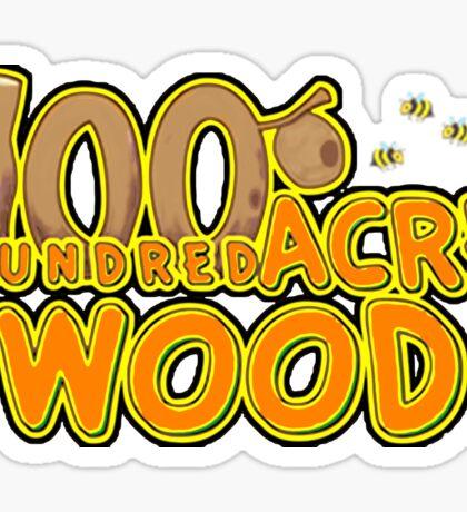 Hundred acre wood Sticker