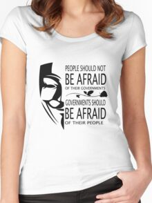 Governments Be Afraid Women's Fitted Scoop T-Shirt