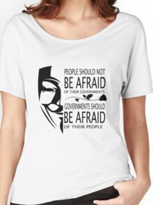 Governments Be Afraid Women's Relaxed Fit T-Shirt