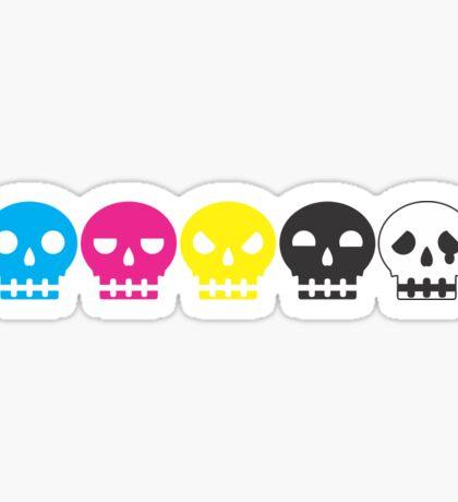 Skull Friends Bar CMYKW Sticker