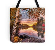 Birches on Mirror Pond Tote Bag