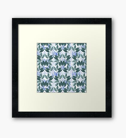Leaf Wallpaper Framed Print