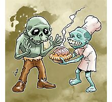 Zombies Share Pie 2 Photographic Print