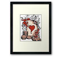Flame Poker Framed Print