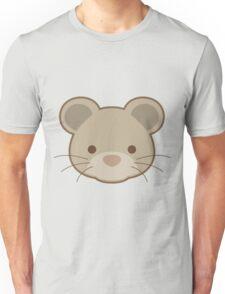 Cute mouse portrait cartoon Unisex T-Shirt