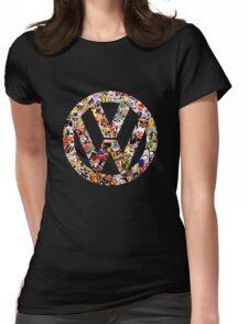 Volkswagen Logo in Sticker Graffiti VW  Womens Fitted T-Shirt
