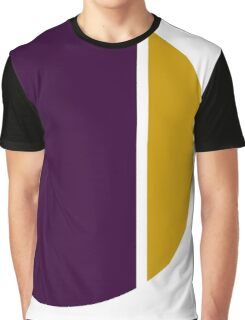 wine gold contrasting circle Graphic T-Shirt