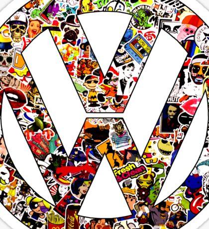 Volkswagen Logo in Sticker Graffiti VW  Sticker