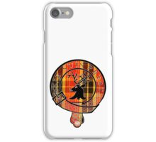 Fraser Motto (Black Detailed and Lined on Book Tartan) iPhone Case/Skin