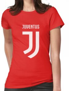 juventus new logo white Womens Fitted T-Shirt