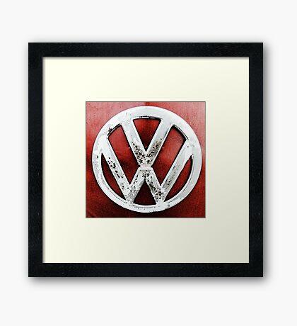Grundge VW Emblem Framed Print