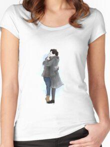 Sherlock Holmes and John Watson Women's Fitted Scoop T-Shirt
