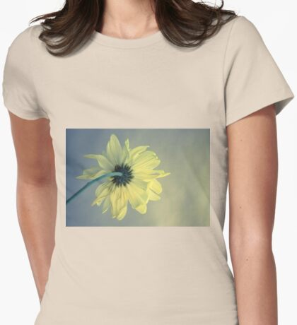 Pensive Daisy (Yellow) Womens Fitted T-Shirt