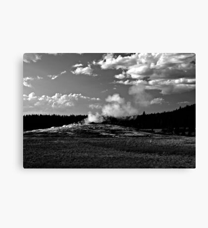 Old Faithful Ready to Blow Canvas Print
