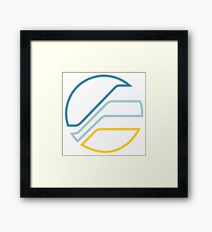 WipEout Pulse Style FEISAR Logo - Small Version Framed Print