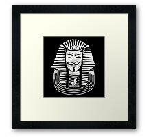 Anonymous pharao Framed Print