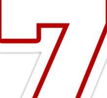 NFL Player Ben Roethlisberger seven 7 Sticker