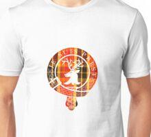 Fraser Motto (White Detailed on Book Tartan) Unisex T-Shirt