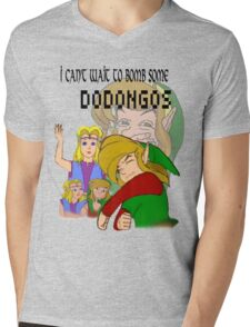 Bombing Dodongos (Black Text) Mens V-Neck T-Shirt