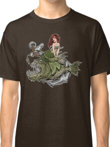 Mermaid And Angler Fish Color Classic T-Shirt