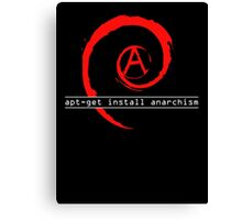 apt-get install anarchism  Canvas Print