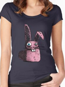 Little Pink Bunny Women's Fitted Scoop T-Shirt
