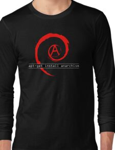 apt-get install anarchism  Long Sleeve T-Shirt