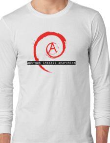 apt-get install anarchism  Long Sleeve T-Shirt