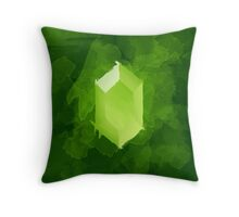 Green Rupee Paint Throw Pillow