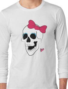 Cute Bow Girl Skull Long Sleeve T-Shirt
