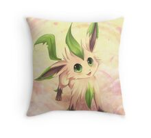 Petal Dance :: Leafeon Throw Pillow