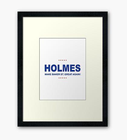 Holmes Trump Framed Print