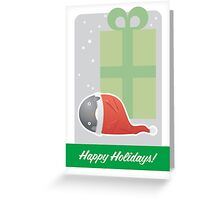 Happy Holidays - Santa Penguin Greeting Card