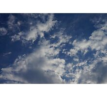 Puffy clouds  Photographic Print