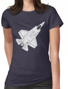 F-35 Lightning II Fighter Jet Womens Fitted T-Shirt