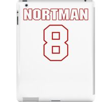 NFL Player Brad Nortman eight 8 iPad Case/Skin