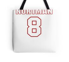 NFL Player Brad Nortman eight 8 Tote Bag
