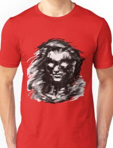 Portrait on red Unisex T-Shirt